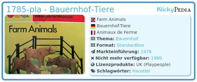 Playmobil 1785-pla - Bauernhof Tiere