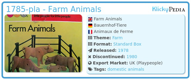 Playmobil 1785-pla - Farm Animals