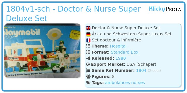 Playmobil 1804v1-sch - Doctor & Nurse Super Deluxe Set