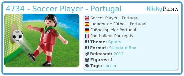 Playmobil 4734 - Soccer Player - Portugal