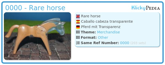 Playmobil 0000 - Rare horse