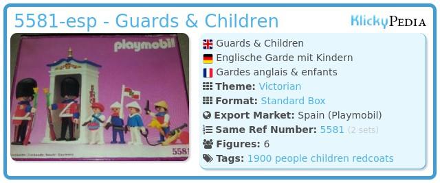 Playmobil 5581-esp - Guards & Children