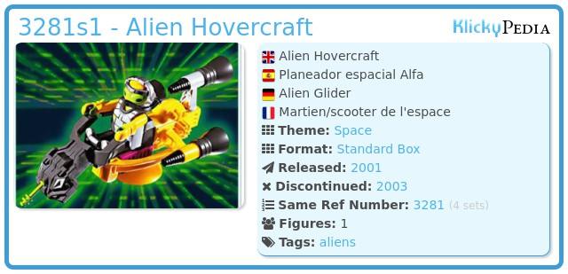 Playmobil 3281s1 - Alien Hovercraft