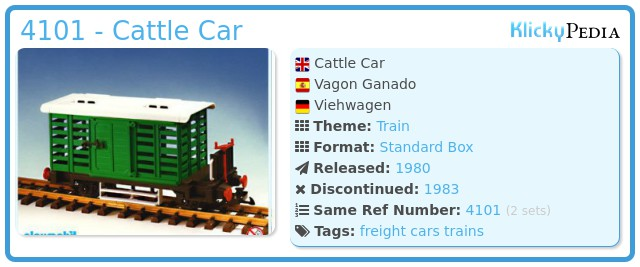Playmobil 4101 - Cattle Car