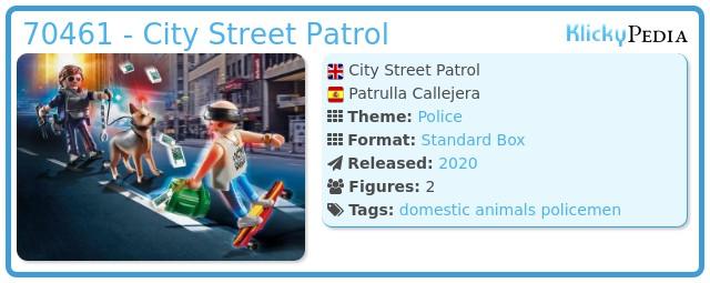 Playmobil 70461 - street patrol