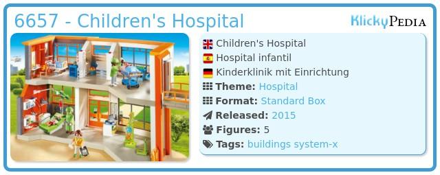 Playmobil 6657 - Children's Hospital