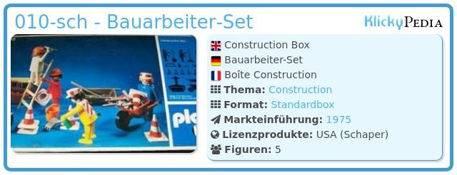 Playmobil 010-sch - Bauarbeiter Set