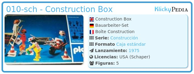 Playmobil 010-sch - Construction Box
