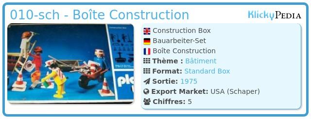 Playmobil 010-sch - Boîte Construction