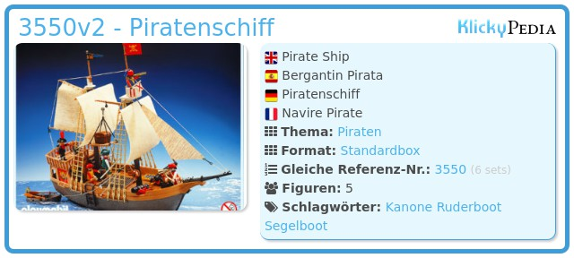 Playmobil 3550v2 - Piratenschiff