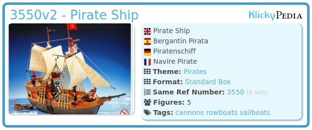 Playmobil 3550v2 - Pirate Ship