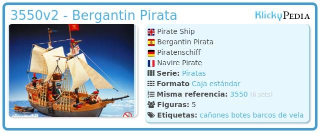 Playmobil 3550v2 - Bergantin Pirata