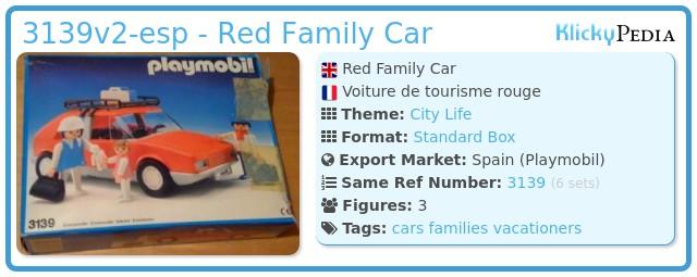 Playmobil 3139v2-esp - Red Family Car