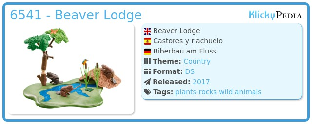 Playmobil 6541 - Beaver Lodge