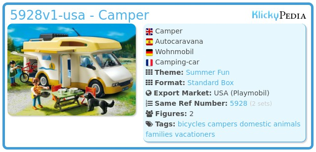 Playmobil 5928v1-usa - Camper