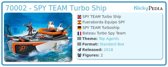 Playmobil 70002 - SPY TEAM Turbo Ship