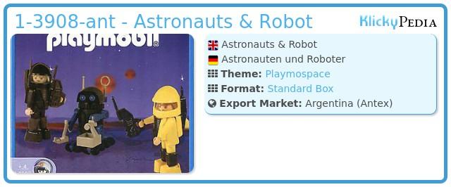 Playmobil 1-3908-ant - Astronauts & Robot