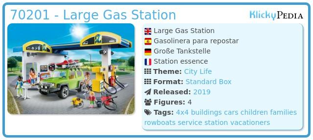 Playmobil 70201 - Große Tankstelle