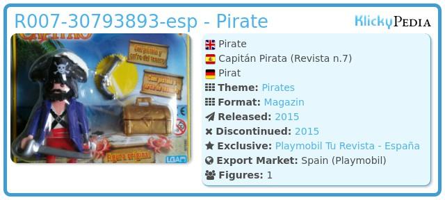 Playmobil R007-30793893-esp - Pirate