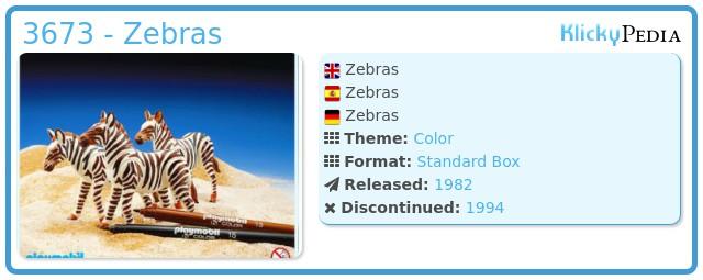 Playmobil 3673 - Zebras