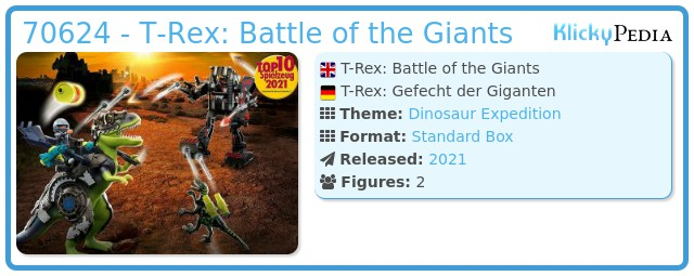 Playmobil 70624 - Dino Rise T-Rex: Battle of the Giants