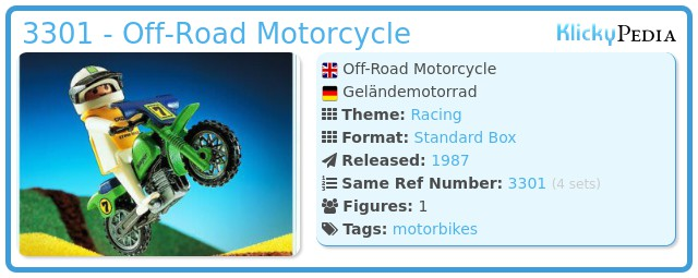 Playmobil 3301 - Off-Road Motorcycle