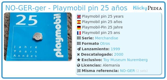Playmobil NO-GER-ger - Playmobil pin 25 años