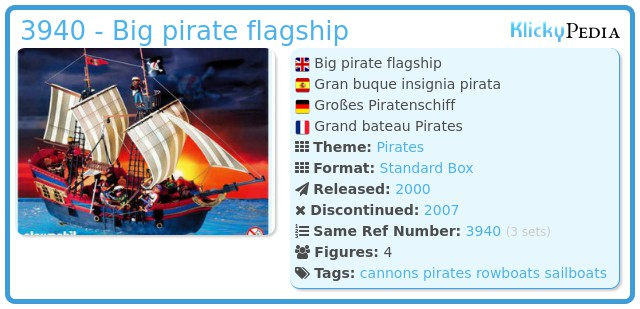 Playmobil 3940 - Big pirate flagship
