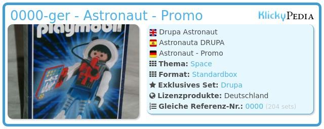 Playmobil 0000-ger - Astronaut - Promo
