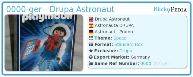 Playmobil 0000-ger - Drupa Astronaut