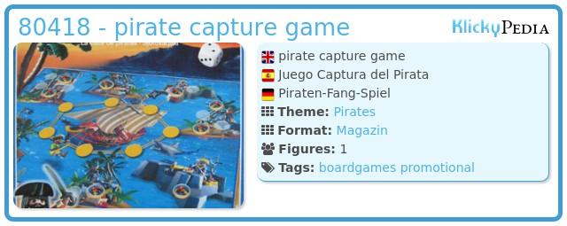 Playmobil 80418 - pirate capture game