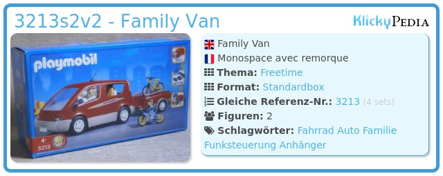 Playmobil 3213s2v2 - Family Van