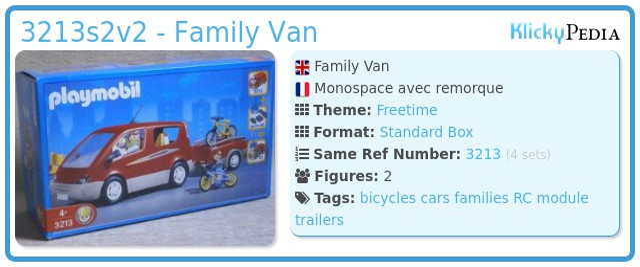Playmobil 3213s2v2 - Family Van