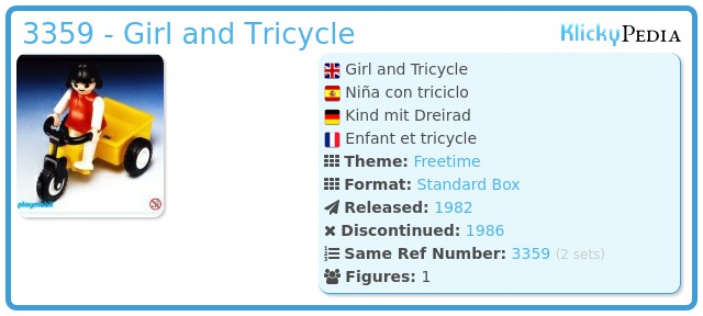 Playmobil 3359 - Girl and Tricycle