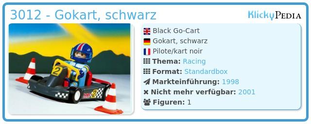 Playmobil 3012 - Gokart, schwarz