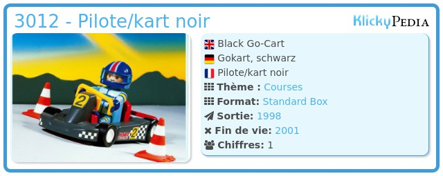 Playmobil 3012 - Black Go-Cart