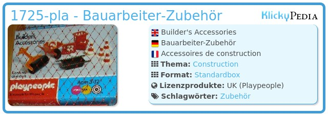 Playmobil 1725-pla - Builder's Accessories