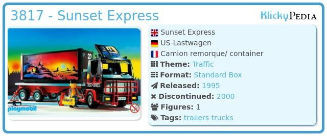 Playmobil 3817 - Sunset Express