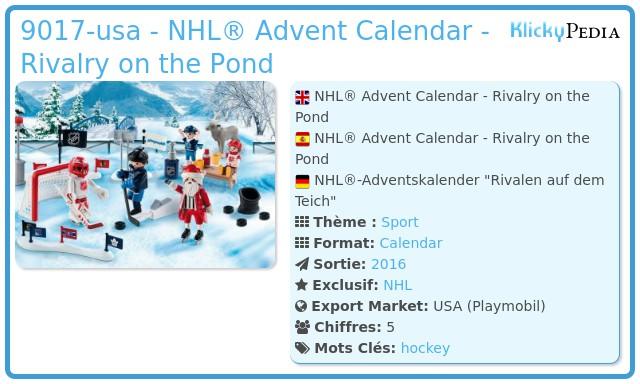 Playmobil 9017-usa - NHL® Advent Calendar - Rivalry on the Pond