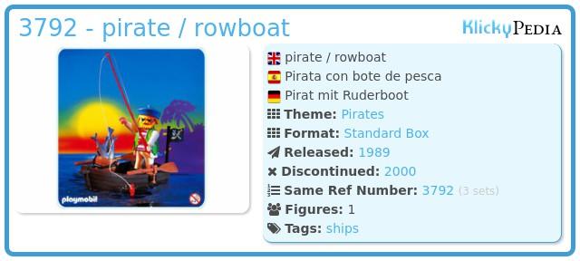 Playmobil 3792 - pirate / rowboat