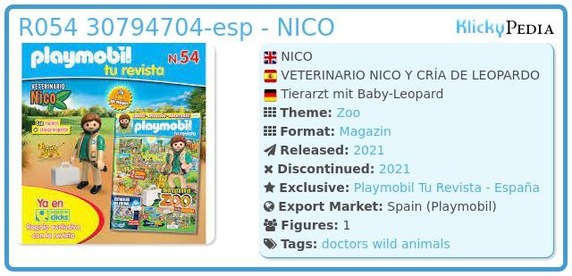 Playmobil R054 30794704 - NICO