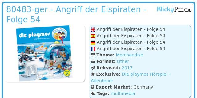 Playmobil 80483-ger - Angriff der Eispiraten - Folge 54