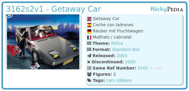 Playmobil 3162s2v1 - Getaway Car