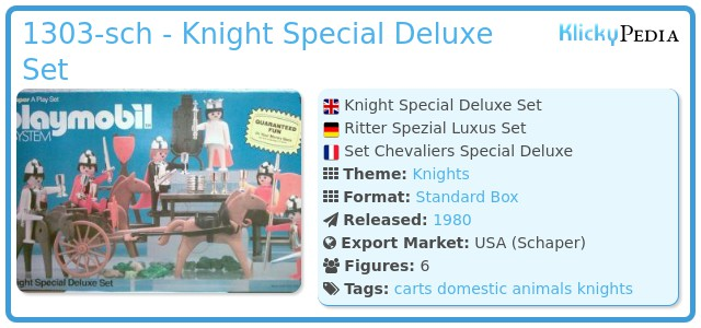 Playmobil 1303-sch - Knight Special Deluxe Set
