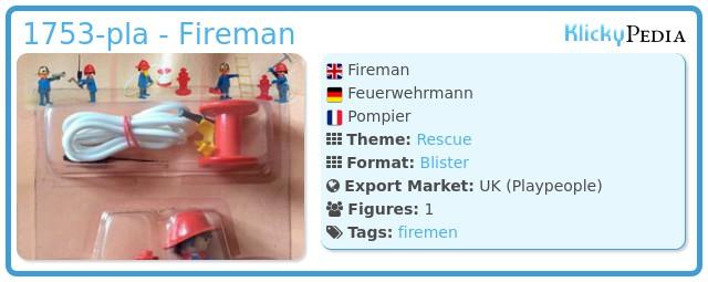 Playmobil 1753-pla - Fireman