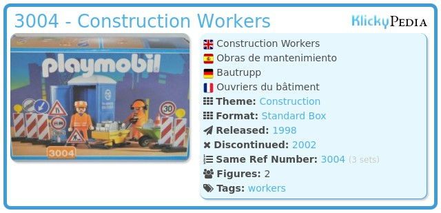 Playmobil 3004 - Construction Workers