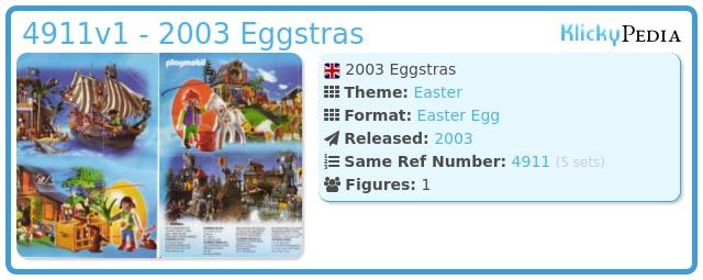 Playmobil 4911v1 - 2003 Eggstras