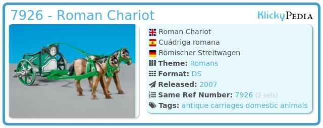 Playmobil 7926 - Roman Chariot