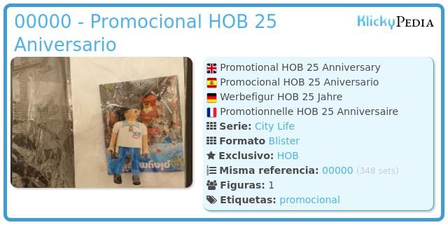 Playmobil 00000 - Promocional HOB 25 Aniversario