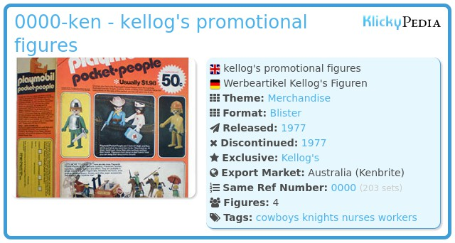 Playmobil 0000-ken - kellog's promotional figures